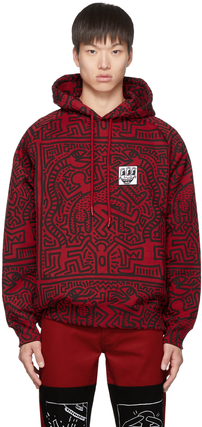 Red & Black Keith Haring Edition Odysseus Hoodie