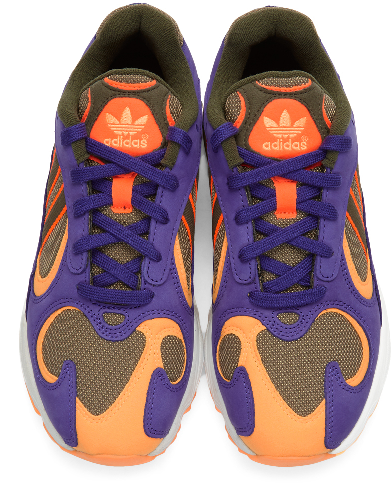 Green & Purple Yung 1 Trail Sneakers