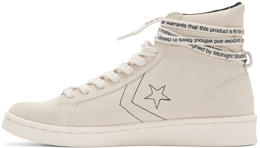 Off White Pro Leather High Top Sneakers