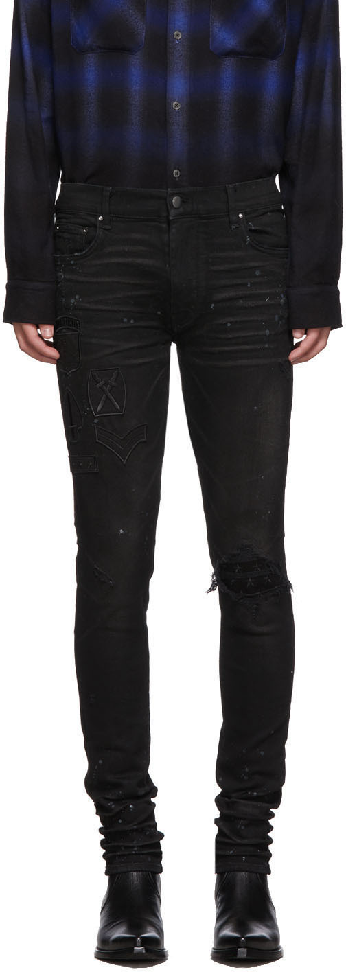 Black amiri jeans