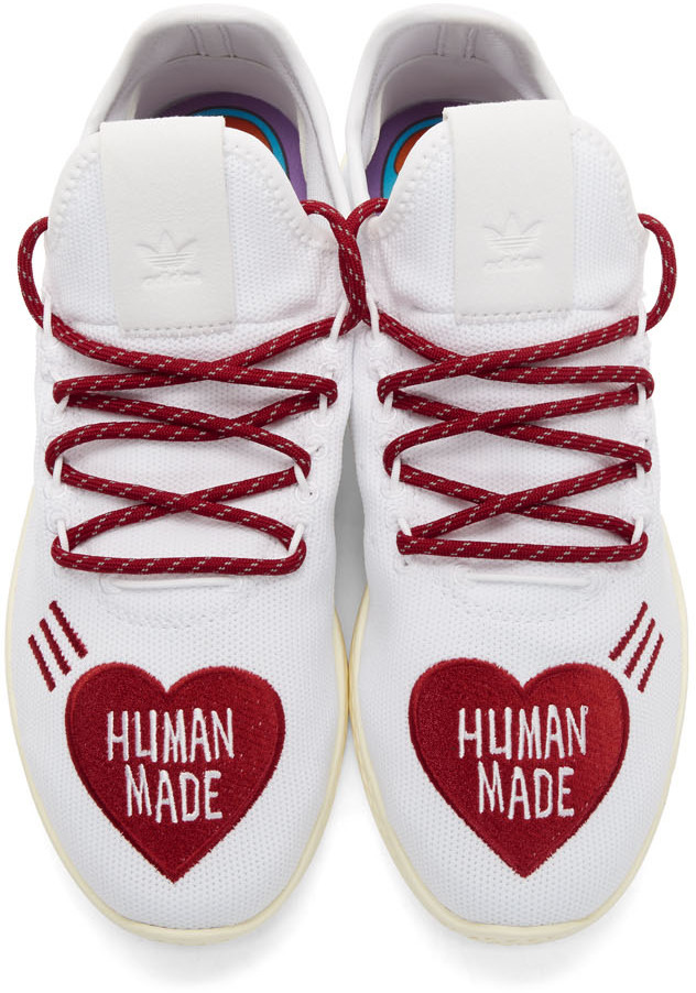 Baskets blanches et rouges Tennis Hu Human Made