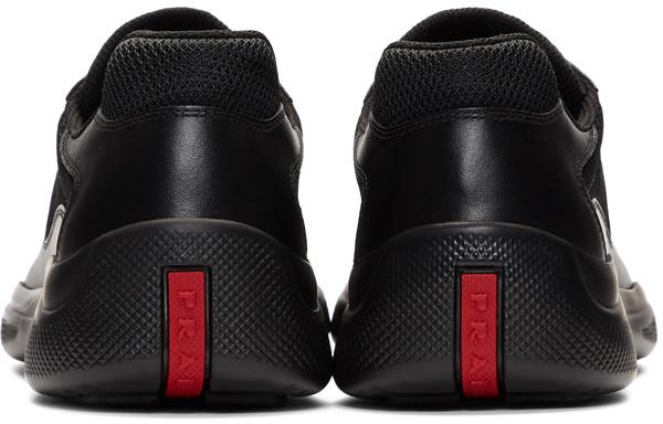 Prada: Black Plume+Bike Sneakers