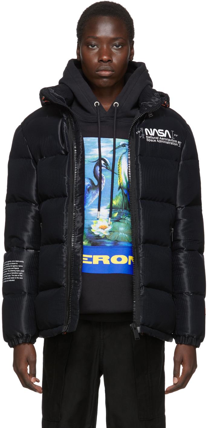 Black Down Puffer Jacket
