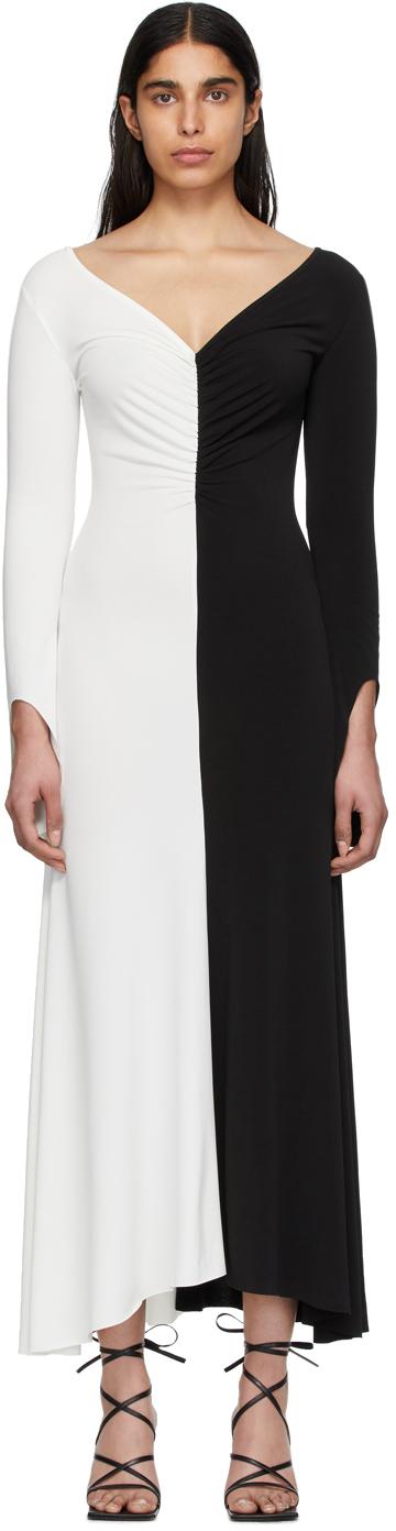 Robe Noire Et Blanche Fluted Maxi A W A K E Mode En Solde