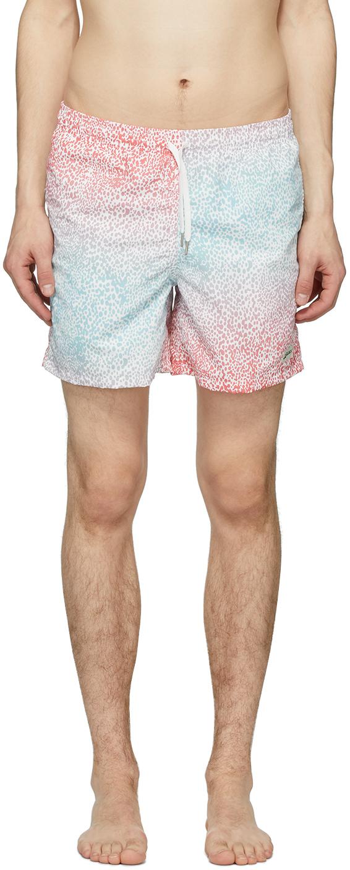 Bather 蓝色 & 粉色渐变豹纹泳裤