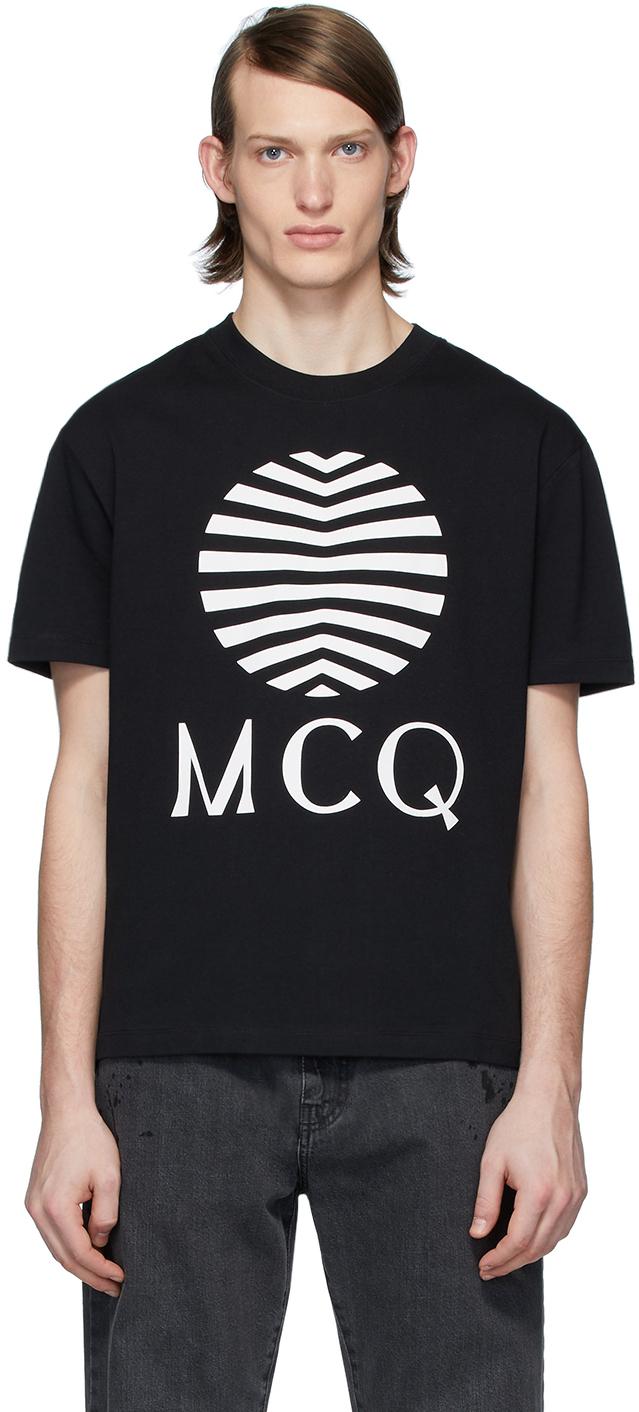mcq alexander mcqueen black mcq swallow logo t shirt ssense ssense