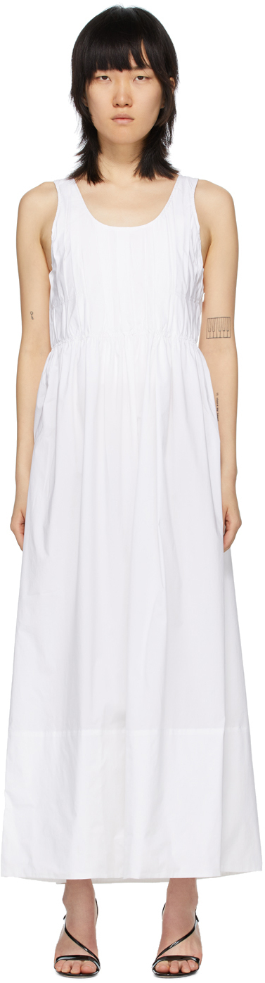 White 'The Pleated' Dress