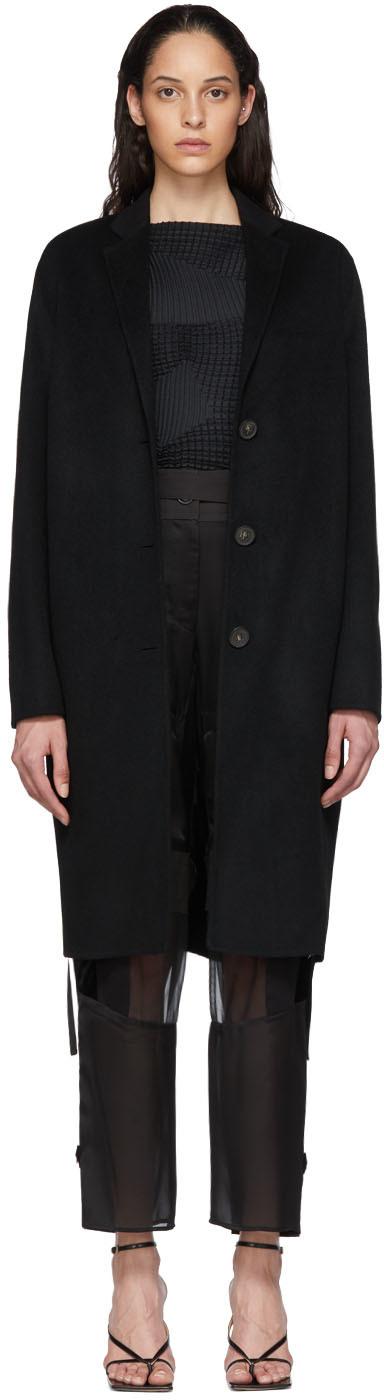 Acne Studios Black Wool Single Breasted Coat 201129F059046