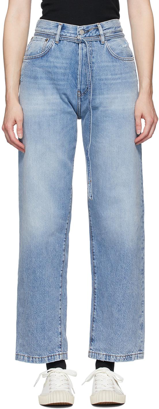 Acne Studios Blue Blå Konst 1991 Vintage Trash Jeans 201129F069245