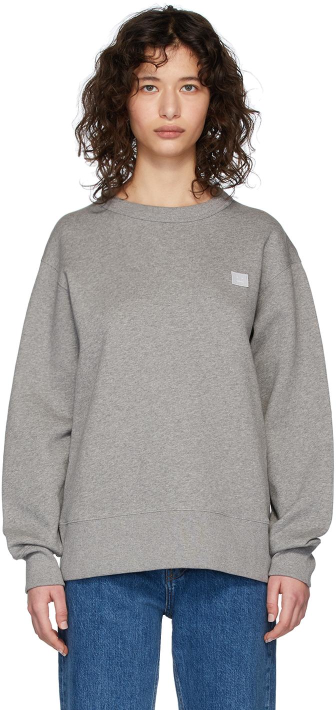 Acne Studios Grey Fairview Patch Sweatshirt 201129F098003