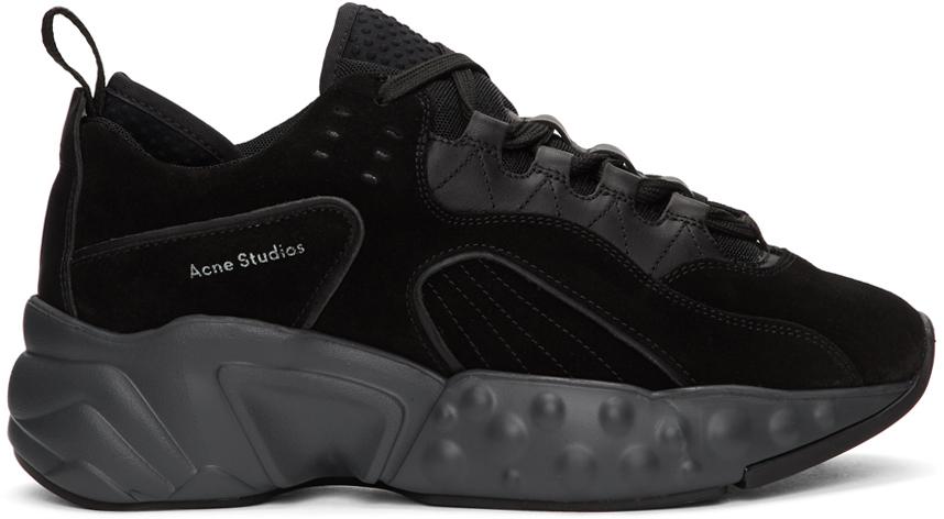 Acne Studios Black Suede Rockaway Sneakers 201129M237083