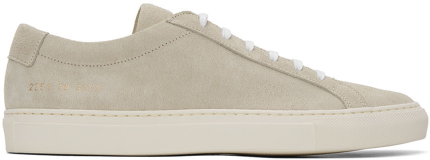 Off White Suede Achilles Sneakers