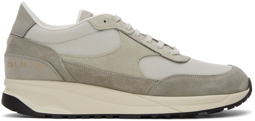 Grey Track Classic Sneakers by Common