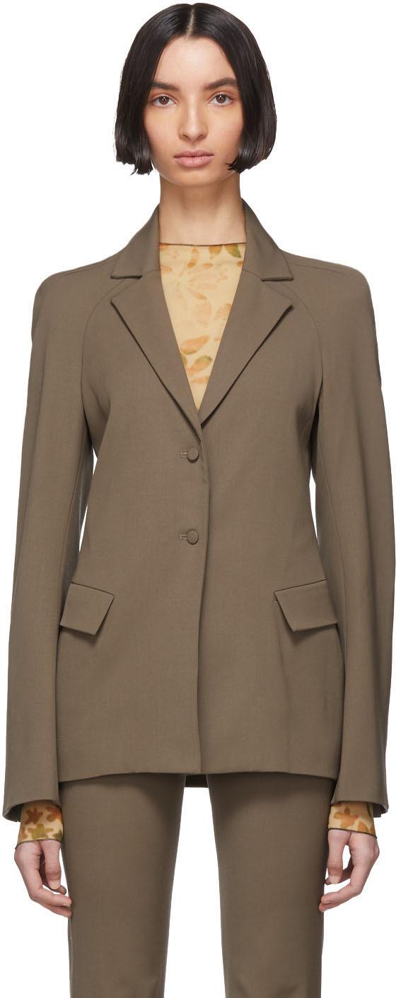 Grey Wool Exos Blazer