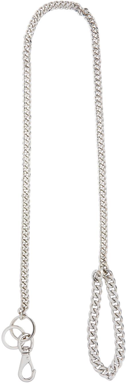Silver Solid Curb Chain Leash