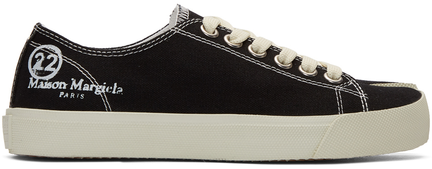 Maison Margiela Vandal tabi leather low top sneakers | Luisaviaroma