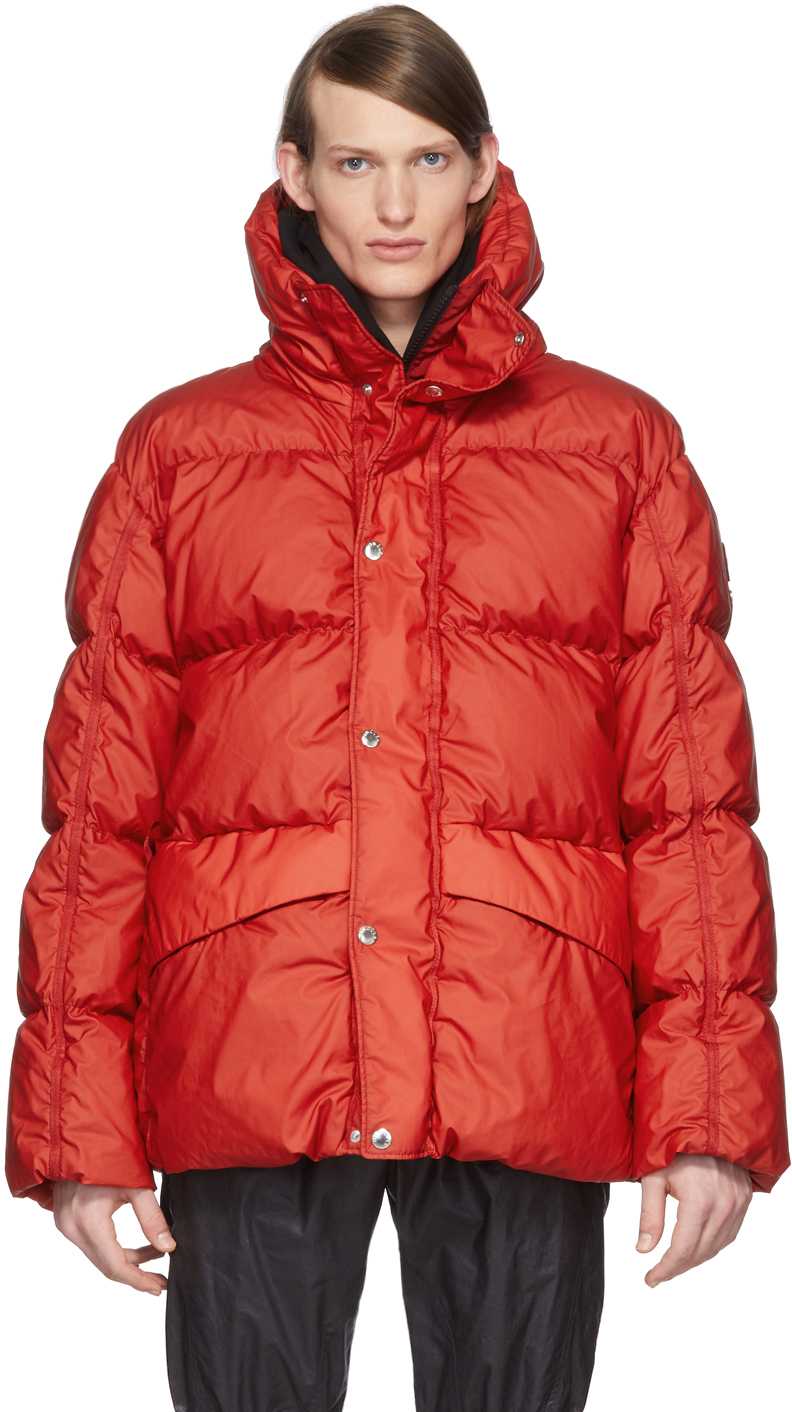 SSENSE Exclusive 6 Moncler 1017 ALYX 9SM Red Eris Giubbutto Down Jacket