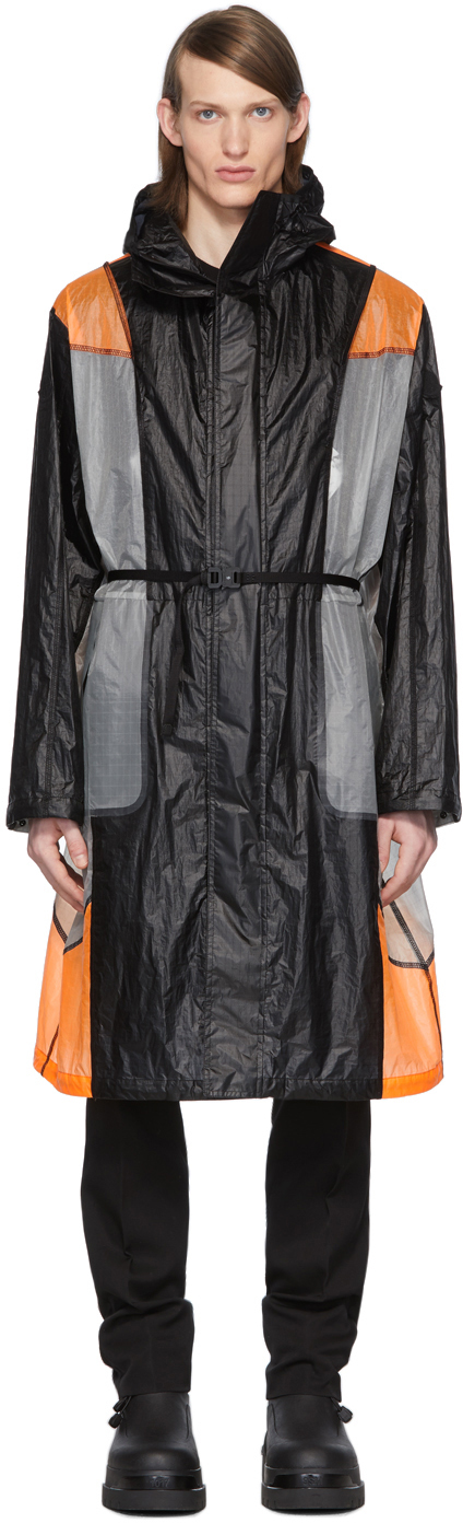 6 Moncler 1017 ALYX 9SM Black & Orange Colorblock Cosmos Jacket