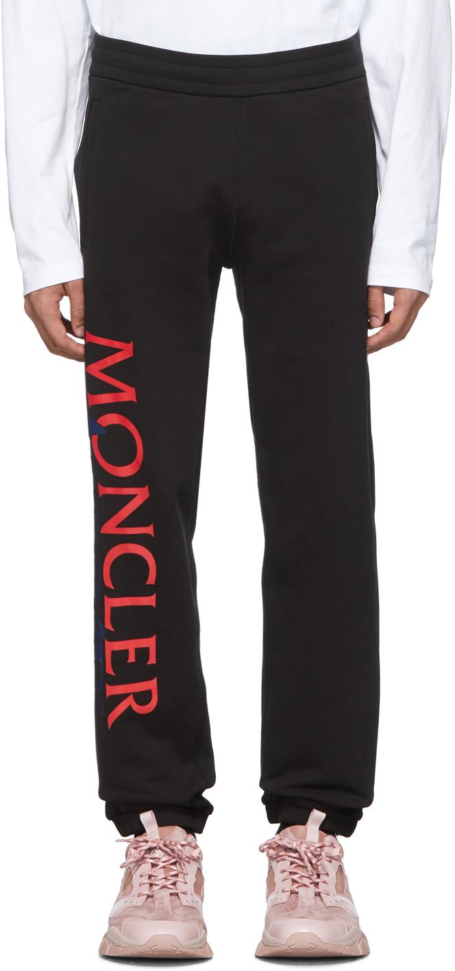2 Moncler 1952 Black Awake NY Edition Logo Lounge Pants