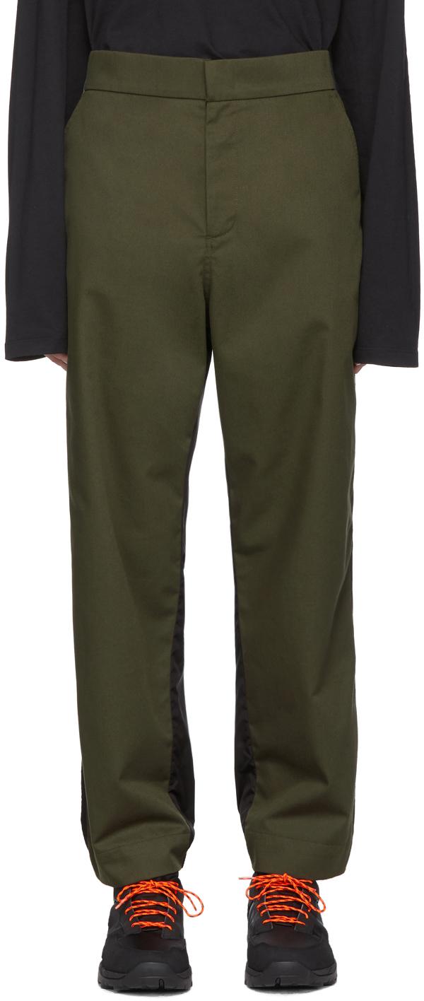 5 Moncler Craig Green Green & Black Nylon Trousers