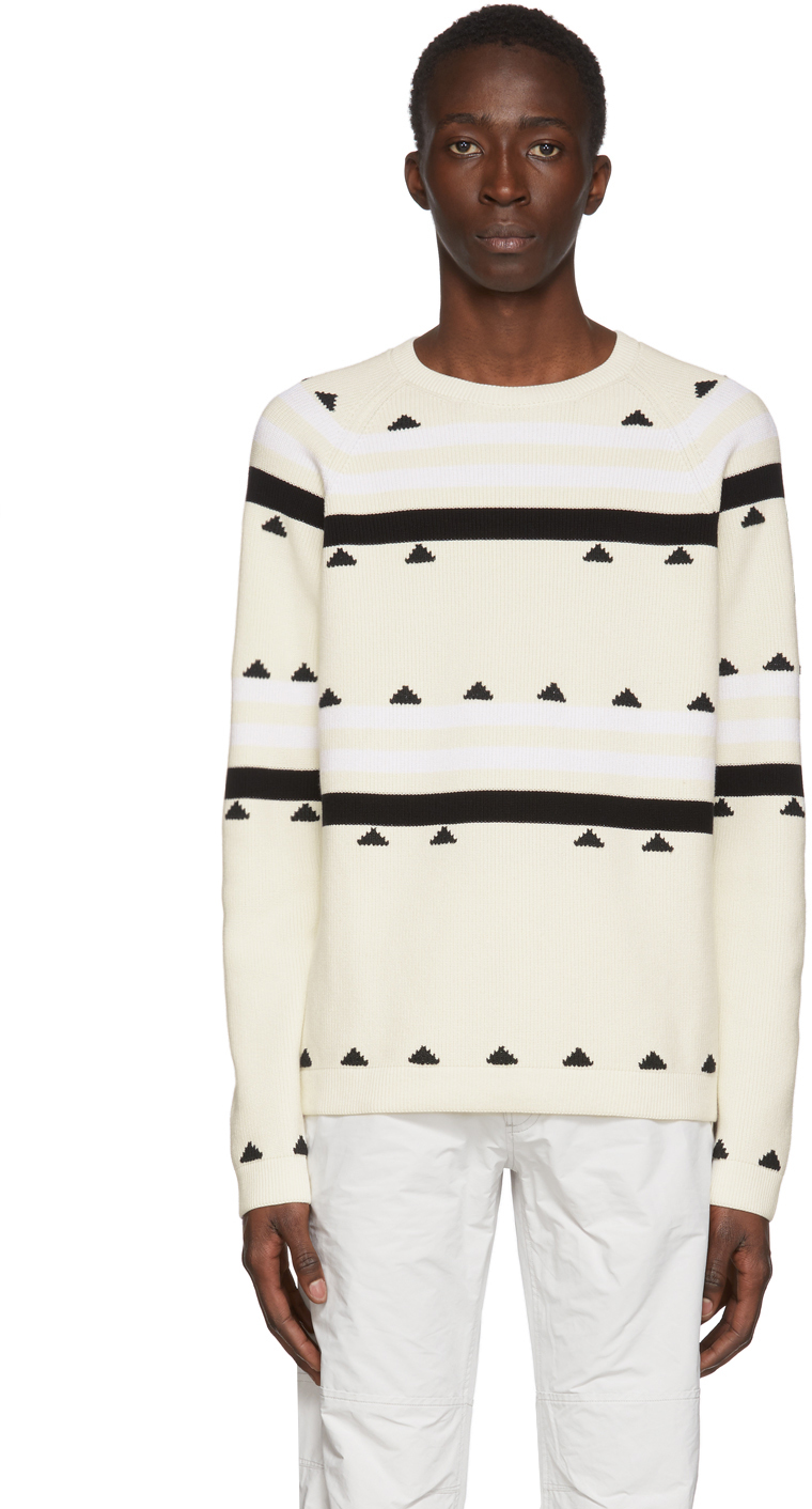 2 Moncler 1952 Beige Striped Sweater