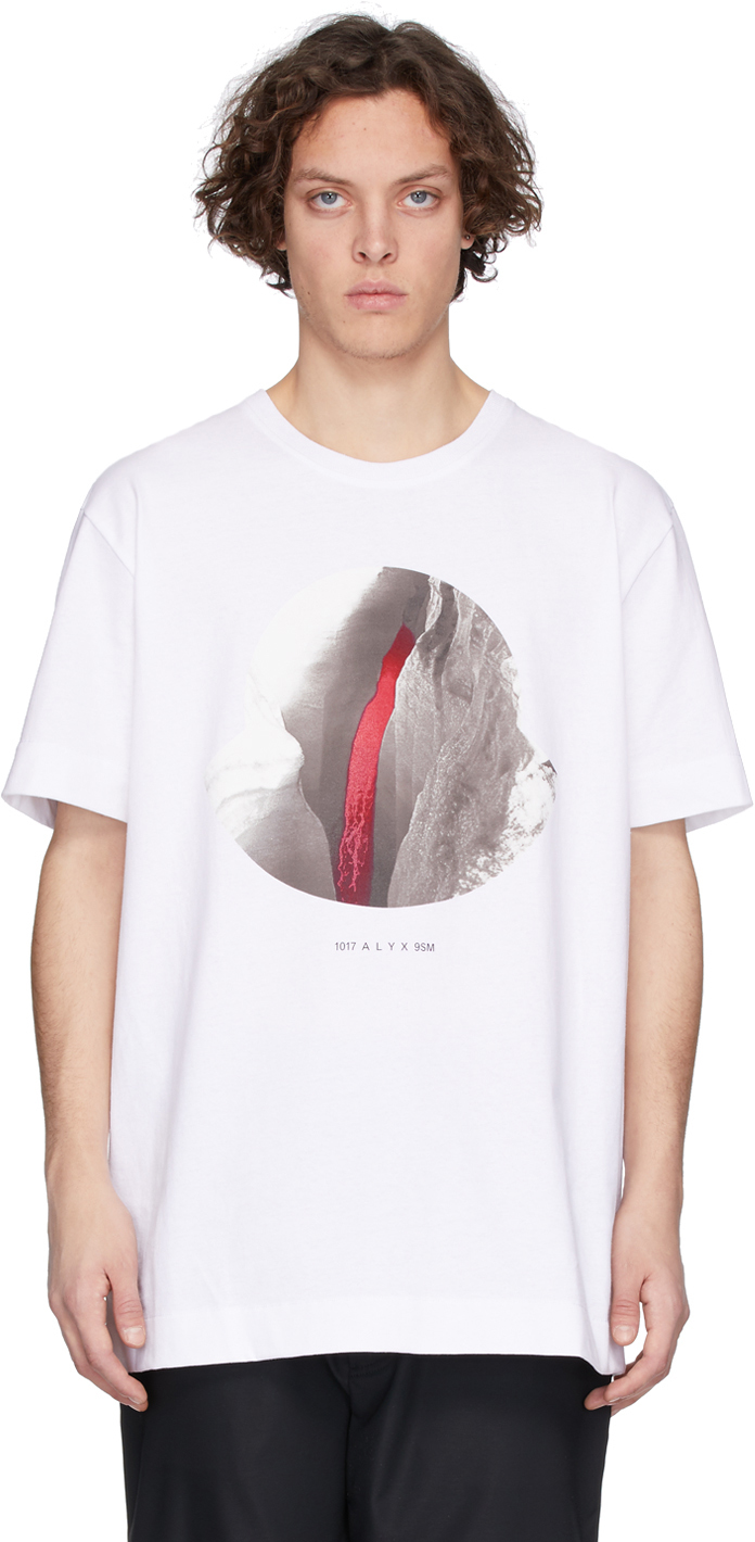 6 Moncler 1017 ALYX 9SM White Graphic T-Shirt