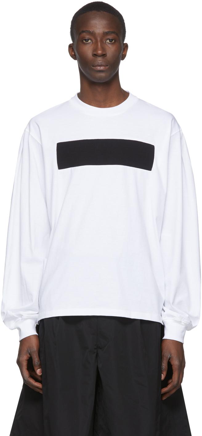 Random Identities 白色 No Logo 长袖 T 恤