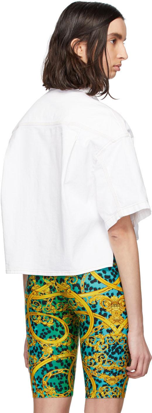 Versace Jeans Couture: Chemise écourtée en