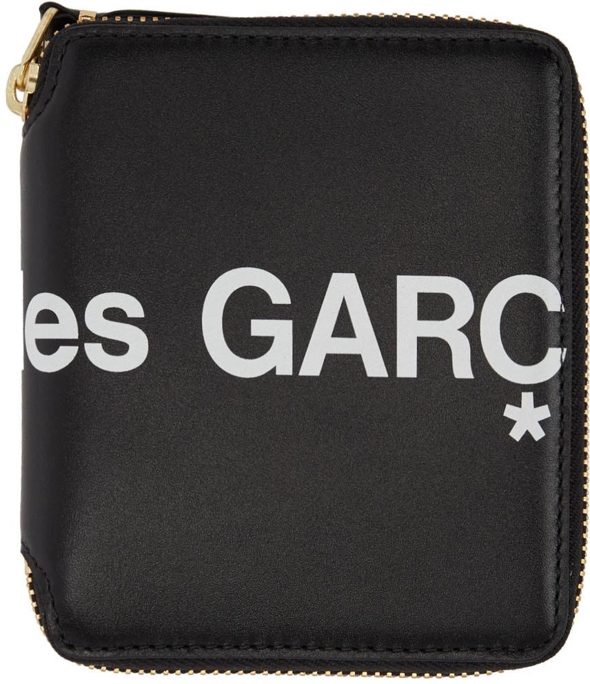 Black Huge Logo Zip Around Wallet