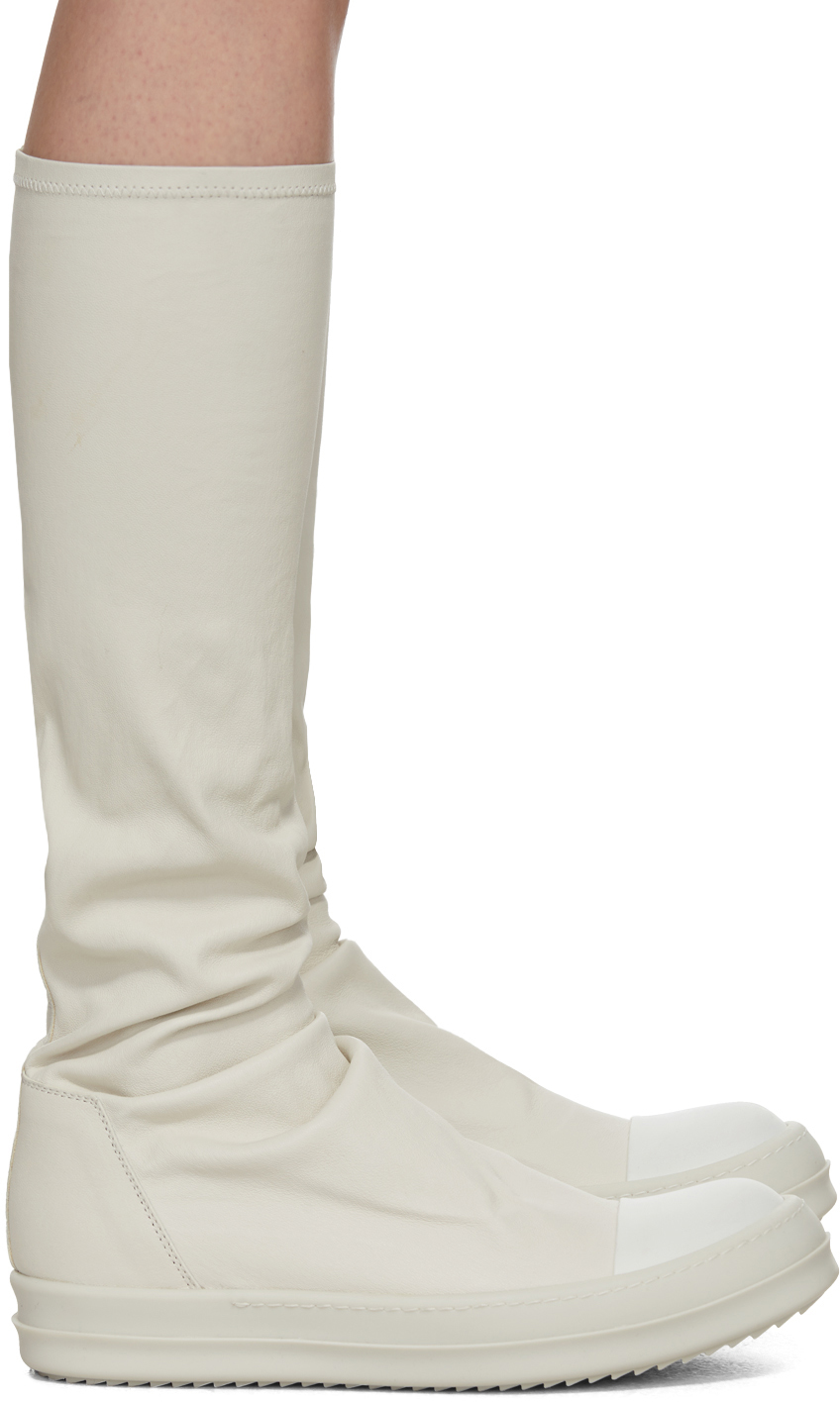 Off-White Sock Boots by Rick Owens on Sale
