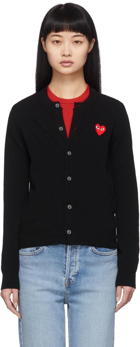 Black Heart Patch Cardigan