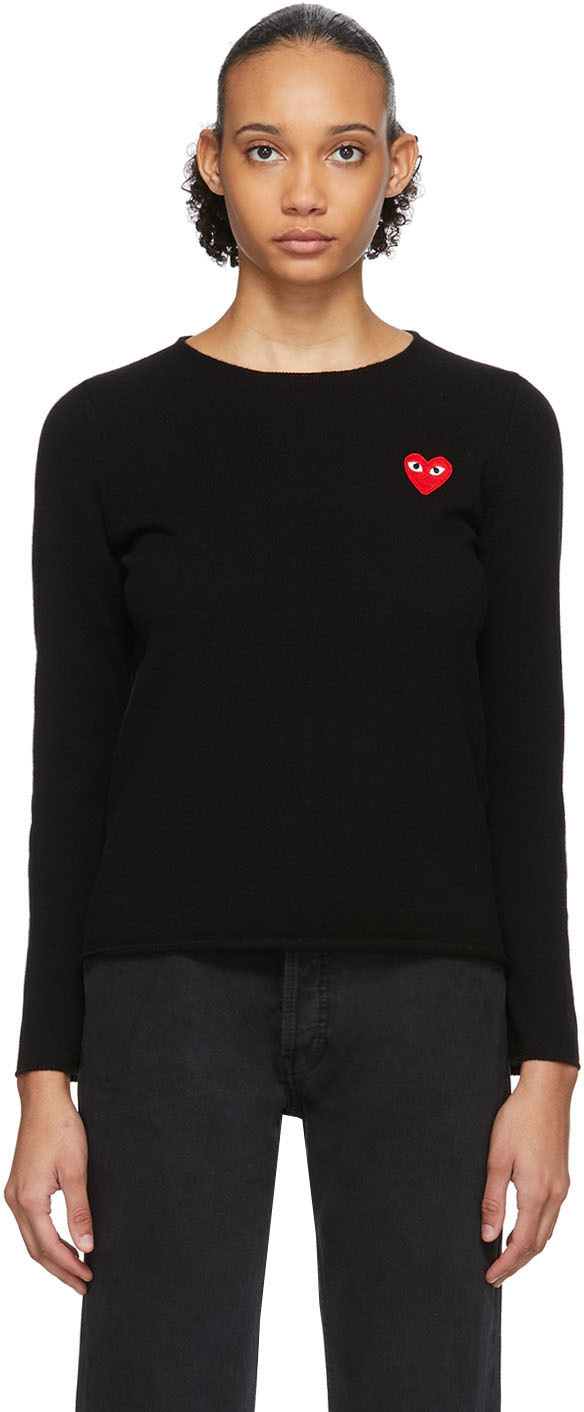 Black Heart Patch Sweater