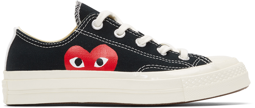 Baskets noires Half Heart Chuck 70 Low édition Converse