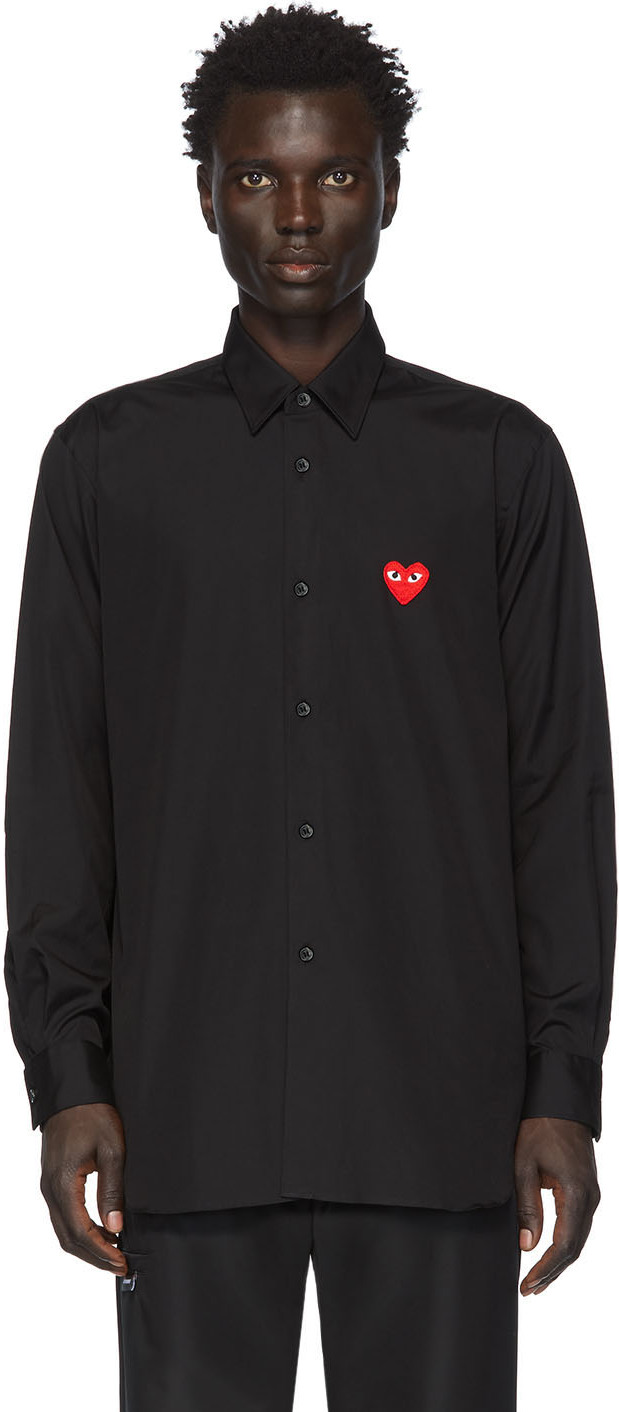 Black & Red Heart Patch Shirt