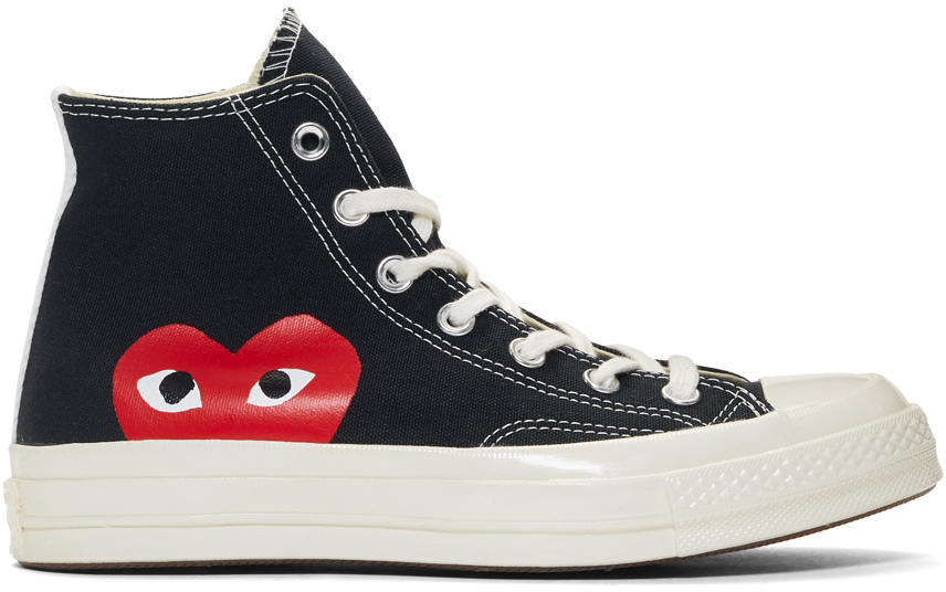 Baskets noires Half Heart Chuck 70 High édition Converse