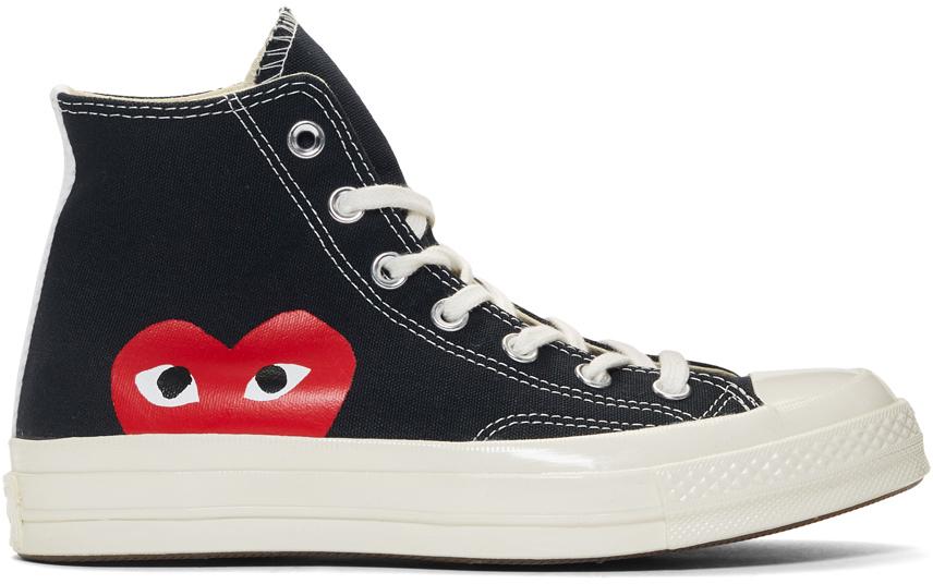 黑色 Converse 联名 Half Heart Chuck 70 高帮运动鞋