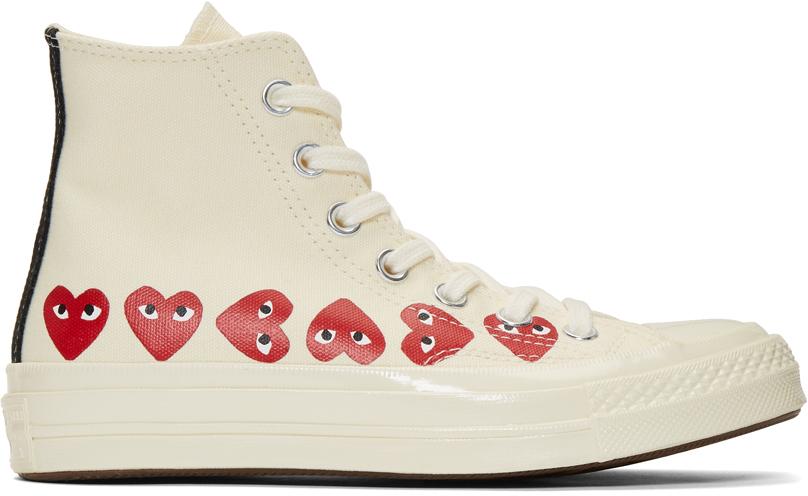 灰白色 Converse 联名 Multiple Hearts Chuck 70 高帮运动鞋