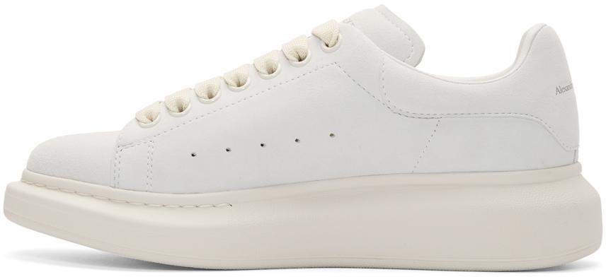 Alexander McQueen: Grey Suede Oversized Sneakers   SSENSE