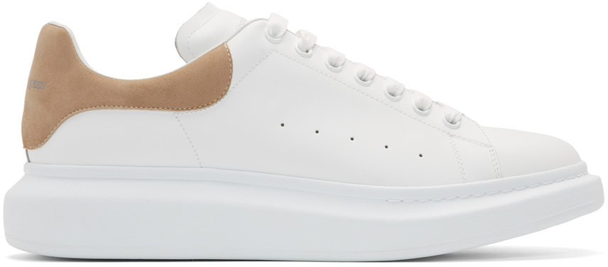 White \u0026 Beige Oversized Sneakers