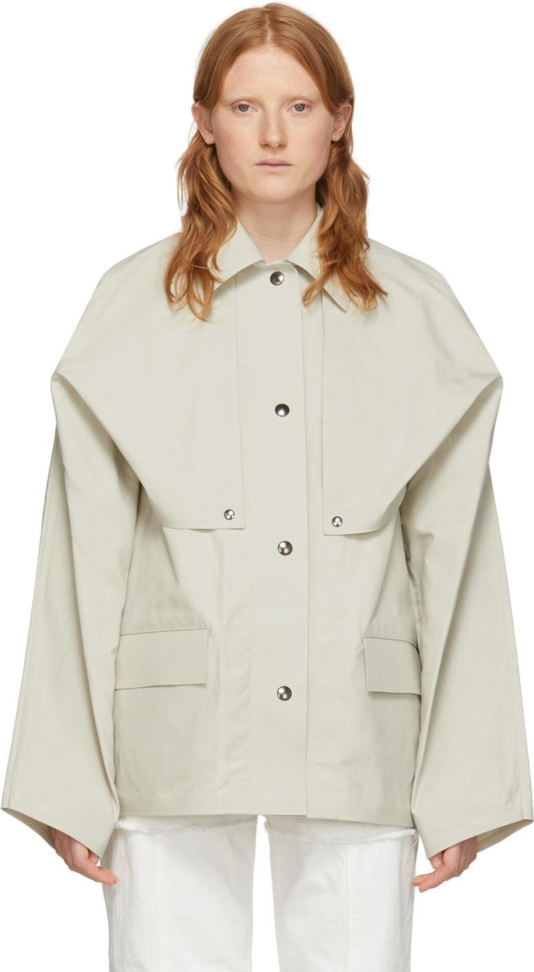 Reversible Beige Cape Jacket