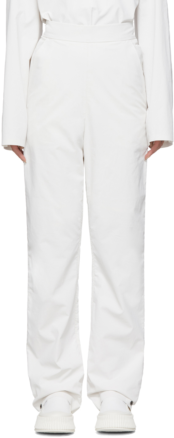 SSENSE Exclusive White Pop Oil Trousers