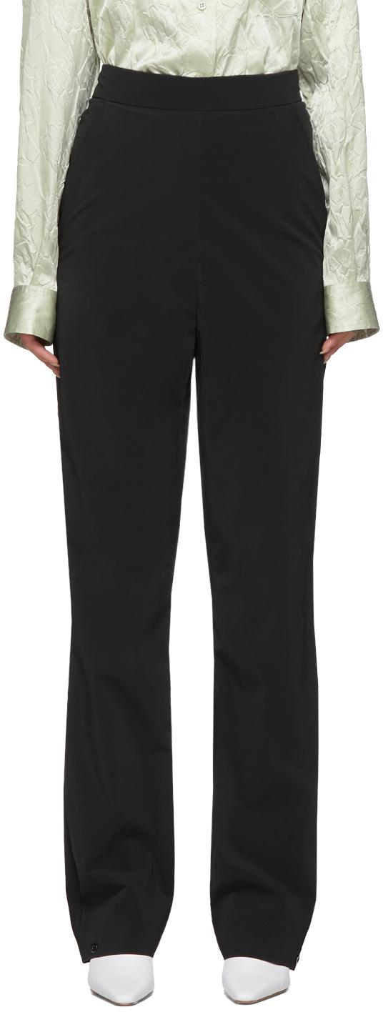 SSENSE Exclusive Black Pop Oil Trousers