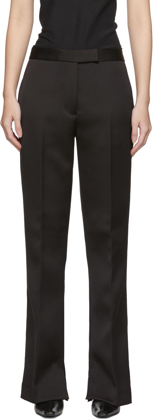 31 Phillip Lim Black Satin Structured Trousers 201283F087001