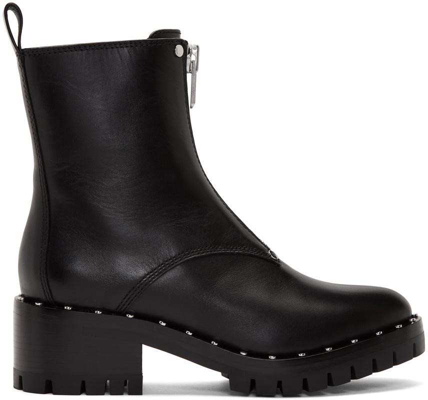 3.1 Phillip Lim 黑色 Hayett 铆钉踝靴