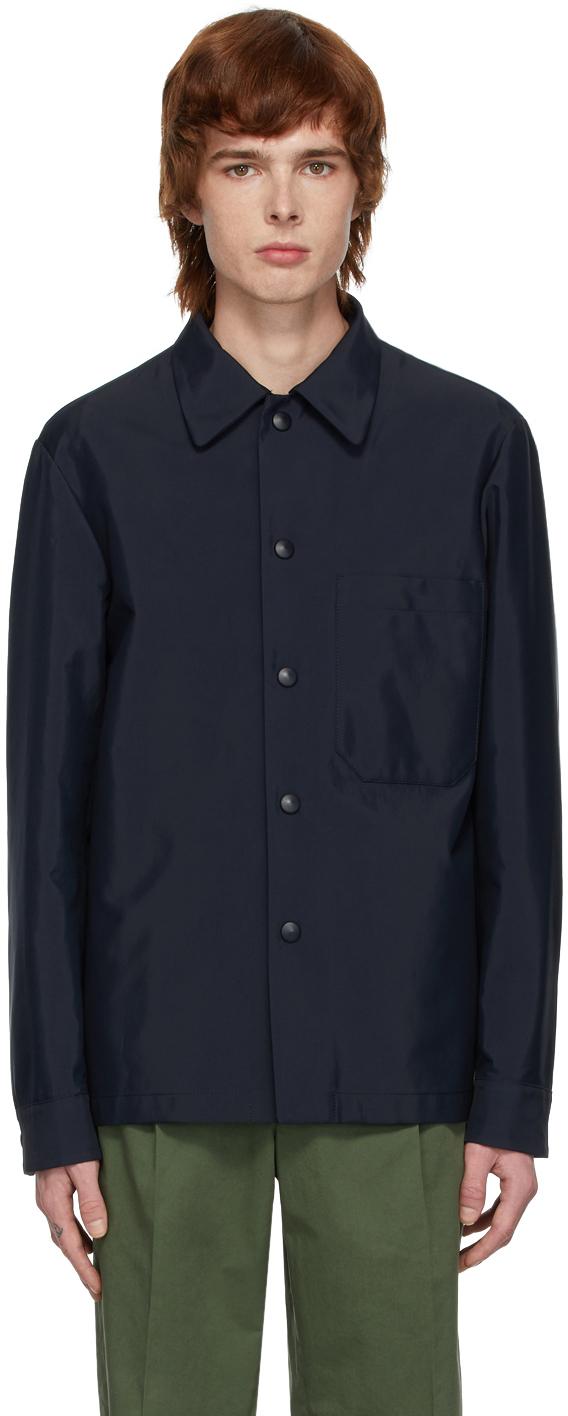 Navy Marotta Shirt Jacket