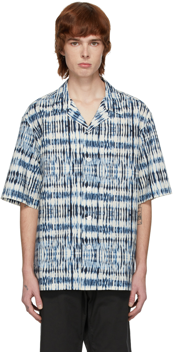 Blue & White Printed Shirt