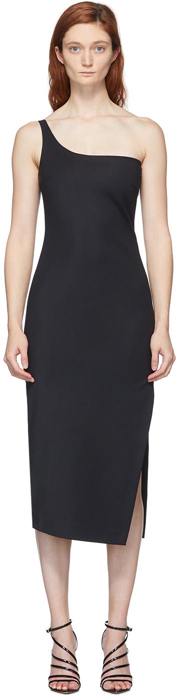 Black Motion Cocktail Midi Dress