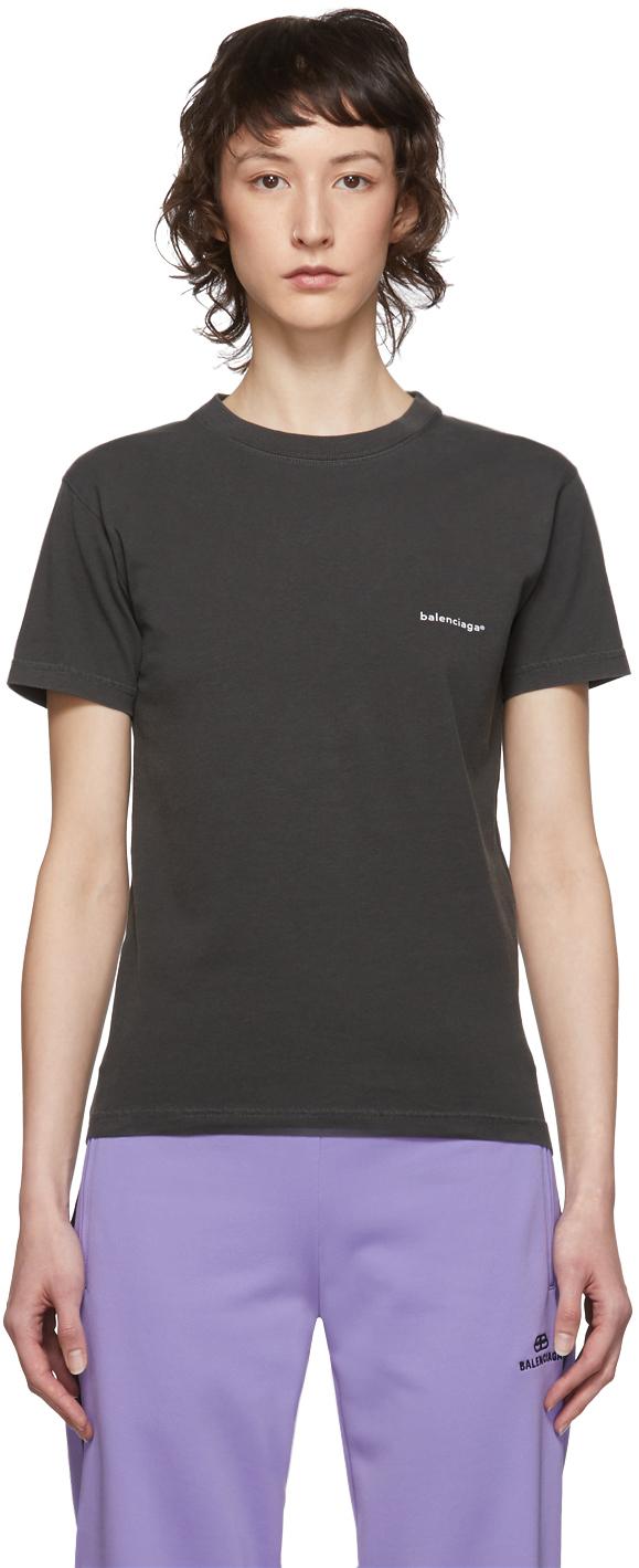 Grey Copyright Logo T-Shirt by