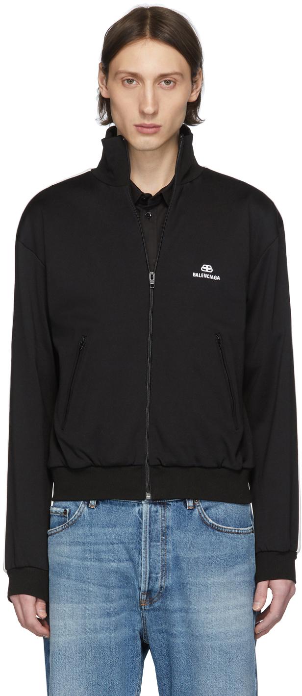 Black Logo Track Jacket by Balenciaga
