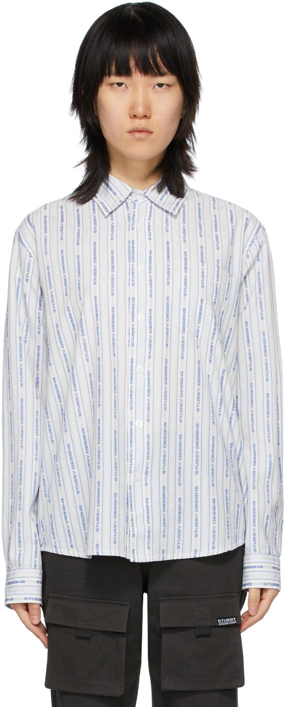 Tommy Hilfiger Mens Pembrooke Striped Shirt X-Small, Fleet Blue